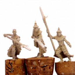 Wojownicy Pustyni z włóczniami