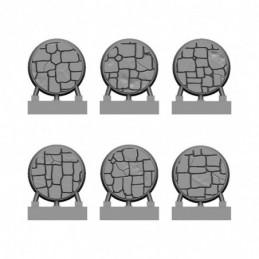 Brukowane podstawki (6x 25mm)